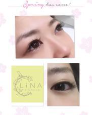 目尻長めの優しい雰囲気のあるデザイン♡ LiNA beautygarden所属・青木歓菜のフォト