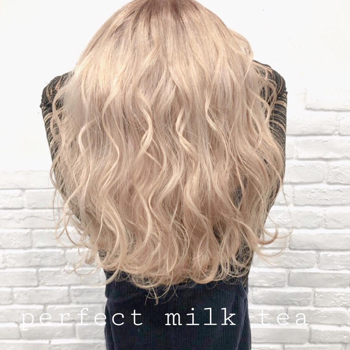 #ロング #カラー perfect milk tea❤︎