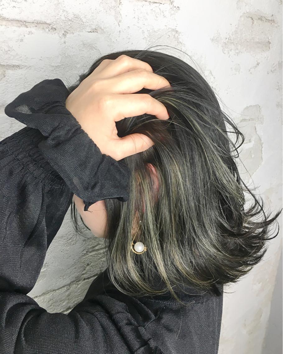 林美佐 ミディアム #カラー ハイライト✨Green color