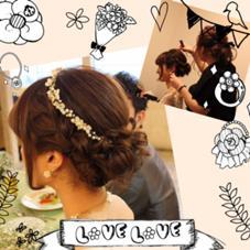 友人の結婚式でヘアメイクをした時のPhotoです★★ とっても感動しました(;_;) LiNA  ~Beauty Garden~所属・荒巻未世のスタイル