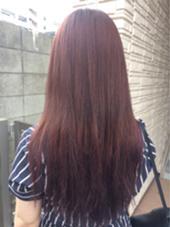 イルミナカラーでグラデーションカラーに! ベースはピンクブラウンに毛先はバイオレットピンクです☺︎ Hair Salon Re(ヘアサロン アールイー)所属・今村亜未のスタイル