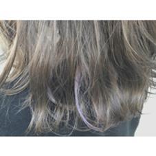 マットアッシュに 薄紫のポイントカラー RUCCA所属・中森飛翔のスタイル