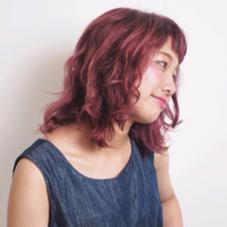 ブリーチからのピンクパープルカラー hair&makePOSH葛西店所属・坂上岳のスタイル