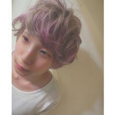 プラチナパールベージュにパステルピンクカラー CLLN hair design 所属・kanata〈店長〉 のスタイル