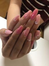 """色々ピンクや、ベージュを混ぜてオリジナルのピンクを作りデザインしました☆ 自宅サロン""""M""""所属・辻瑞穂のフォト"""