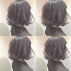 ラベンダーアッシュ  春は暖色も人気です 高石紗由莉のスタイル