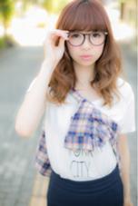 ランダムカールのミディアムスタイル  BE AREA 1F所属・田中久普のスタイル