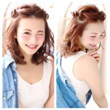 ミディアムでのヘアアレンジも簡単にできます♡ petit  girl(プティガール)所属・櫻井愛弓のスタイル