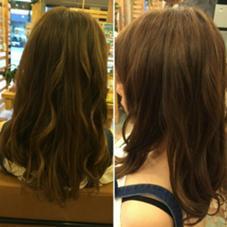 3色づかいのスモーキーブルージュ♡ Hair garden Rold所属・井上野乃花のスタイル