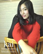 Kai hair make active所属・坂東秀幸のスタイル
