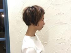 長さがあるショートスタイルです ミュゼ柱店所属・下村崇晃のスタイル