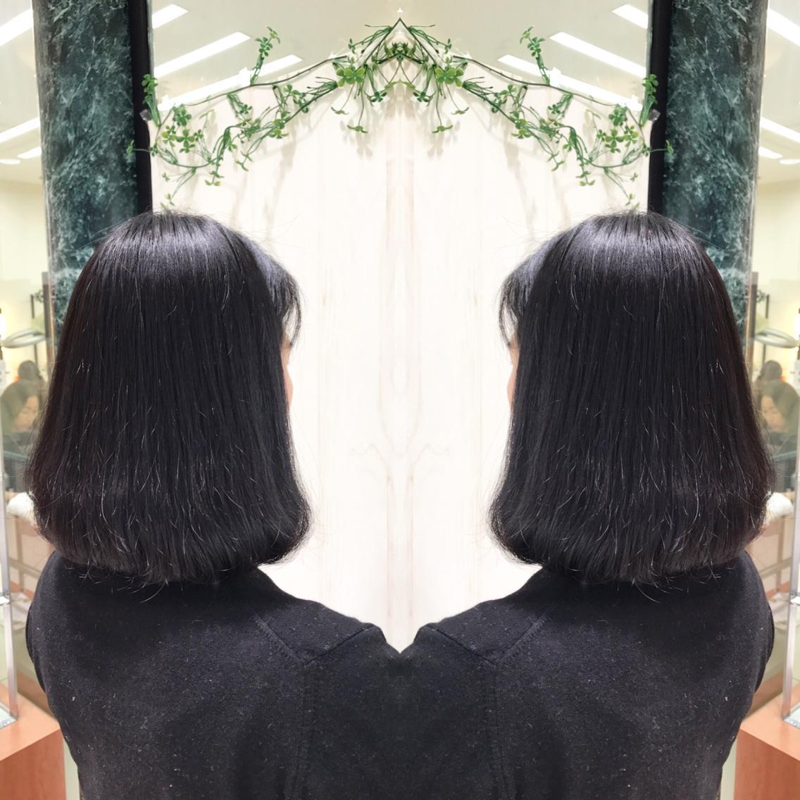 #ミディアム #パーマ 広がりを抑えたい方へ…縮毛矯正でサラサラな髪へ💇✨