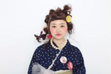 アレンジ ロング  撮影モデル Hair Atelier Nico所属・佐々木由香のスタイル