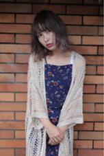 トリプルカラーで透け感を出したハイライトカラー☆ angelgaff原宿所属・中島勝吾のスタイル