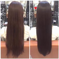トーンダウンとトリートメントでツヤ髪に♪ 山口桃子のロングのヘアスタイル