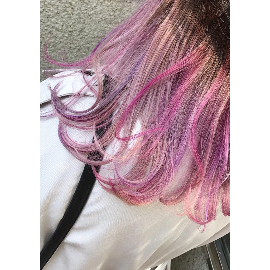 インナーカラー♡ ピンク×紫