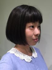 可愛さあっぷのボブスタイル LaHzA所属・小栗春花のスタイル
