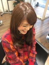 デジタルパーマでゆるふわを再現♡ Swing西新店所属・スタイリスト 割石奈保子のスタイル