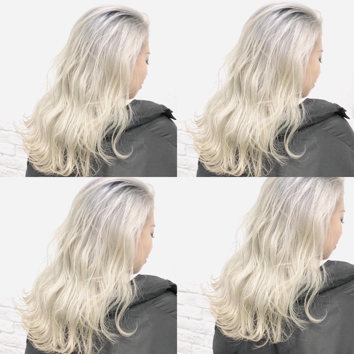 #カラー ホワイト🇰🇷  ・perfect White・ ✳︎10800円〜✳︎ ✳︎minaでブリーチ3〜5回出来れば綺麗なホワイトヘアを作れます👻 ✳︎ ✳︎ダメージが強いとブリーチが出来ない場合もあるのでご了承ください ✳︎ムラシャンはエンシェールズのシャンプーを薄めて使うのがオススメ🧖🏻♀️ ✳︎ ✳︎黒染めや縮毛、デジパをしていなくてダメージがひどくなければおおよそ4〜5回ブリーチで出来ます🦄✳︎ 最後まで可愛く仕上げます🇰🇷 ✳︎ お店の近くにあるティファニーカフェで映えな写真もプレゼントします🦄 ✳︎ ✳︎黒染め履歴、ダメージが強い方はでホワイトにはならないです💦  #原宿#ハイトーンカラー#シルバーカラー#ヘアカラー#ネイビーカラー#ホワイトカラー#ブロンドヘアー#アッシュ#ケアブリーチ#ブロンドカラー#派手髪#ラベンダーカラー#ミルクティーカラー#アッシュ#ミルクティーベージュ#ブルージュ#グレージュ#ピンクカラー#インナーカラー#ハイライトカラー#グラデーションカラー#bts#seventeen#twice ✳︎ ✳︎ ✳︎
