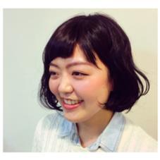 黒髪にパーマで立体感をオン! TAYA  広尾店所属・オオタヒトミのスタイル