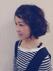 大人かわいいヘアー シンセティックヘアーデザイン所属・江口奈穂のスタイル
