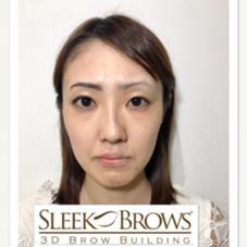 メイクでもない、アートメイクでもない、滲まない眉毛ですっぴんに自信も♡ Sleek brows west  Japan所属・⁂Chikako⁂のスタイル