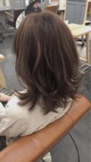 ハイライトカラー、ラベンダーアッシュ AUBE hair sense所属・リー栄華のスタイル