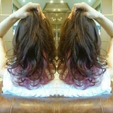 インナーカラーで個性的な可愛いスタイルに♪特殊カラーなのでお色を準備するので早めにご連絡ください! AUBE hair lagoon所属・田辺貴裕のスタイル