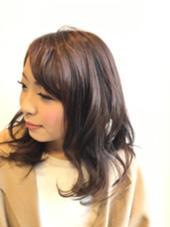 キュートエレガント♡ ミディアムヘアーにまろやかなブラウンを あわせてみました♪ nambu-SKY所属・吉崎絵美のスタイル