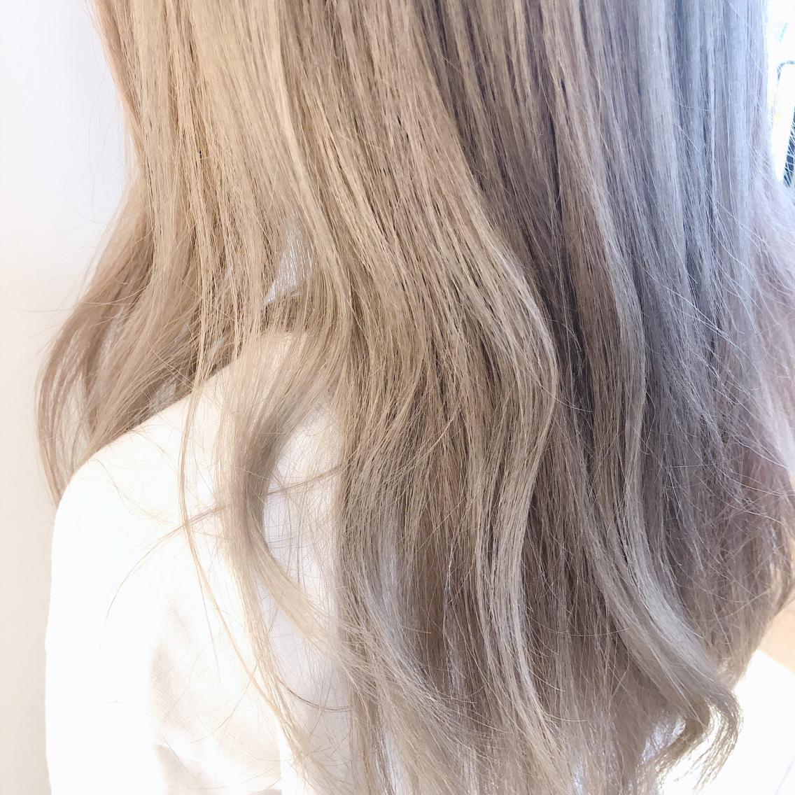 #ロング #カラー white vanilla beige✨  ブロンドカラー👱🏻♀️  ⚠️ブリーチ3回以上が必要です。