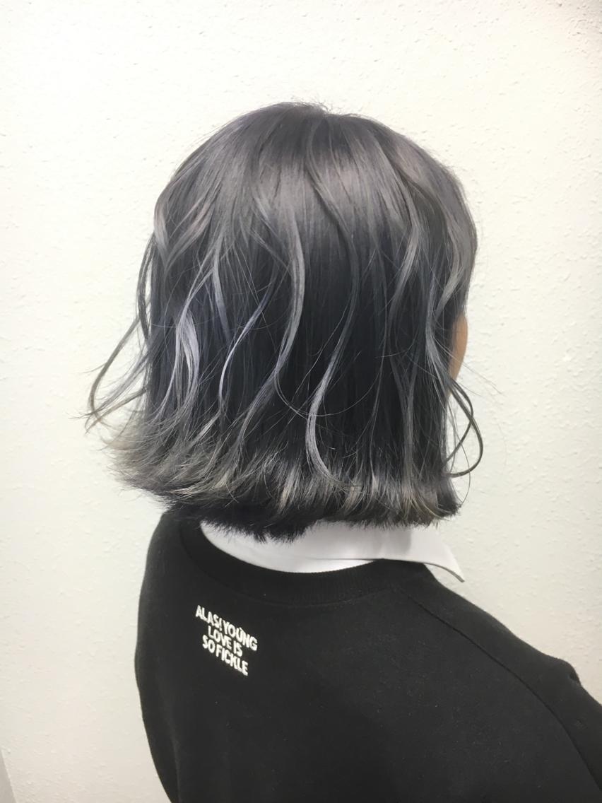 タンザナイトパープル✨ 本厚木 派手髪 特殊カラー アッシュ