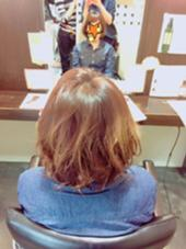 ショートボブ ふんわりパーマ ムースで簡単スタイリング ex-fa  hair garden所属・澤田彩香のスタイル