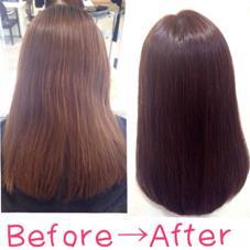 キレイに素敵になりたい! 髪質を改善したいとのことで、毛先には、ダメージの原因になるアルカリ剤、オキシを使わない施術にしました^ ^! サラサラ、ツヤツヤで手触り抜群です(*^^*)!! 興味がある方は!ぜひご連絡ください^ ^。  髪質改善ヘアカラー&トリートメント 7000円〜   ✨フリーランス✨所属・Keitakumemuraのスタイル
