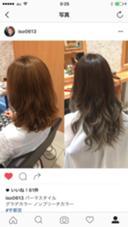 イルミナカラー  グラデーションカラー ブルーアッシュ&バレイヤージュ 外人風のカラーです。 Hair  lab.Shiro(ヘアラボ シロ)所属・磯崎範享のスタイル