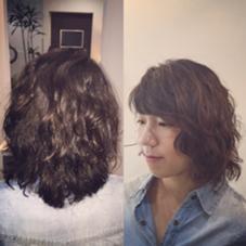 ショートからの、伸ばしかけの髪もパーマでスタイリングしやすく、ちょっとクールな雰囲気にしました☆ hair & relaxation despacio所属・井之上恵理のスタイル