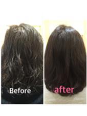 髪質改善トリートメントです。 パサパサだったパーマもトリートメントで復活しました。 パーマも落ちません。 Hair Design Julietヘアデザインジュリエ所属・桑原和誠のスタイル