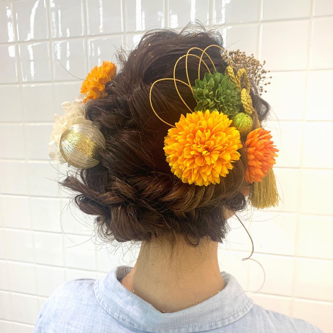 #ヘアアレンジ 成人式hairset パーティアレンジのクーポンは使えません🙇♂️