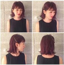 ざっくりボブのパープルレッドカラー LABO-01 hair design所属・itoasamiのスタイル