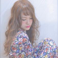無造作パーマのロングスタイル☝︎ 柔らかめのワックスを揉み込んでラフな質感に☺︎ kitchen所属・Rui♡のスタイル