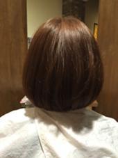 丸みのある柔らかなボブスタイル MUSE高畑店所属・岩田健一のスタイル