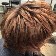 パーマとカラーで毛先の動きとスタイリングの立体感を出しました☆ メンズのお客様大歓迎です(*^^*) Botanica所属・清田健太朗のスタイル