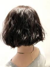 ボブ+ゆるめパーマ mod's  hair金沢所属・kawaetakuyaのスタイル