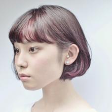 マンネリしがちなショートボブにアクセントカラーをプラスしてオリジナリティーある大人モードボブの新提案 hair studio menos所属・喜多村拓矢のスタイル
