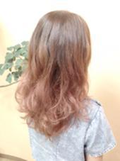 入れづらいピンクもグラデーションで 大人可愛い♫♪ 八木駿輔のスタイル