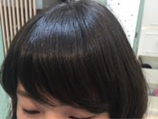 バングにパーマをかけることで前髪が流れやすくなったり、生えグセをおさえられたりします!【カット&パーマ】 我妻園のパーマ