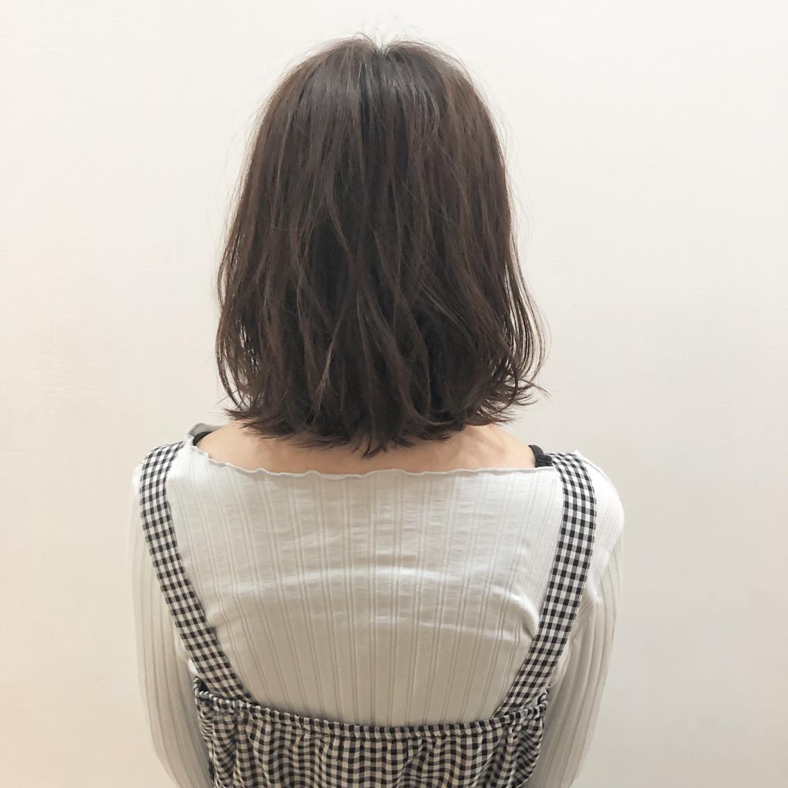 #ショート #カラー #パーマ #ヘアアレンジ 【ゆるふわボブ】  Instagramにもヘアスタイル載せてますので是非♪♪  yuuki_matsui_