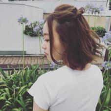 【アンニュイボブ】ヘルシーベージュのアンニュイなボブスタイル dejave  hair&space所属・龍崎絵里香のスタイル
