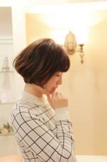 あごラインのショートボブ! HAIR JENNY所属・芦田武栄のスタイル