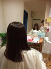 黒染め→少しトーンアップでアッシュ系! hair musee 柱店所属・山本夏菜のスタイル