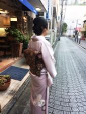 和装のアップスタイル 加藤里菜のスタイル